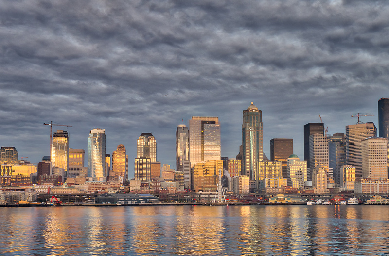 Downtown Seattle As We Head West